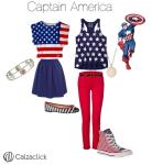 Capitan america outfit calzaclick
