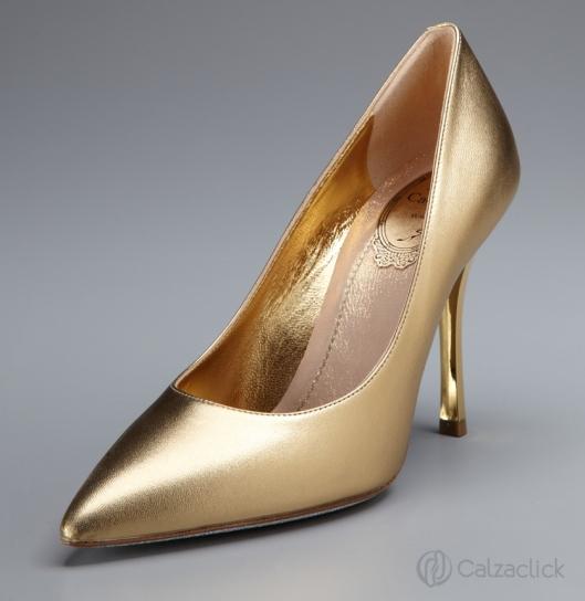 zapatos dorados calzaclick